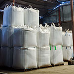 Bags are stored in warehouse